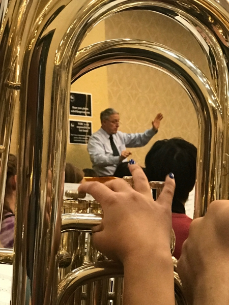 Through the eyes of a tuba
