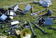 clarinets on field